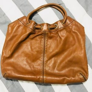 Michael Kors Caramel Studded Leather